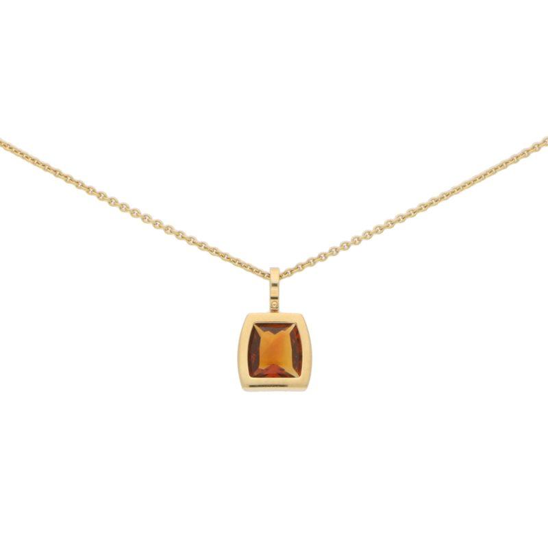 Cartier La Dona Citrine Pendant Set in 18k Yellow Gold