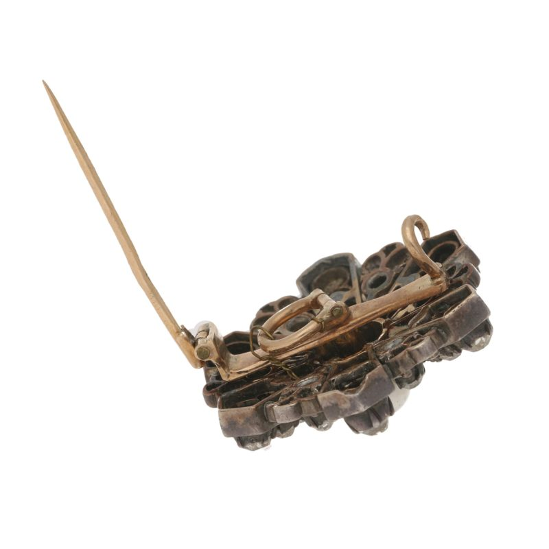 Victorian pearl and diamond brooch/pendant.