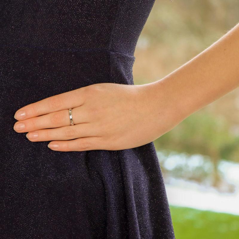 Diamond Full Eternity Ring Set in 18k White Gold