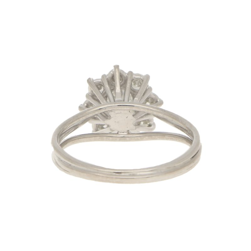 Diamond Daisy Cluster Ring in White Gold