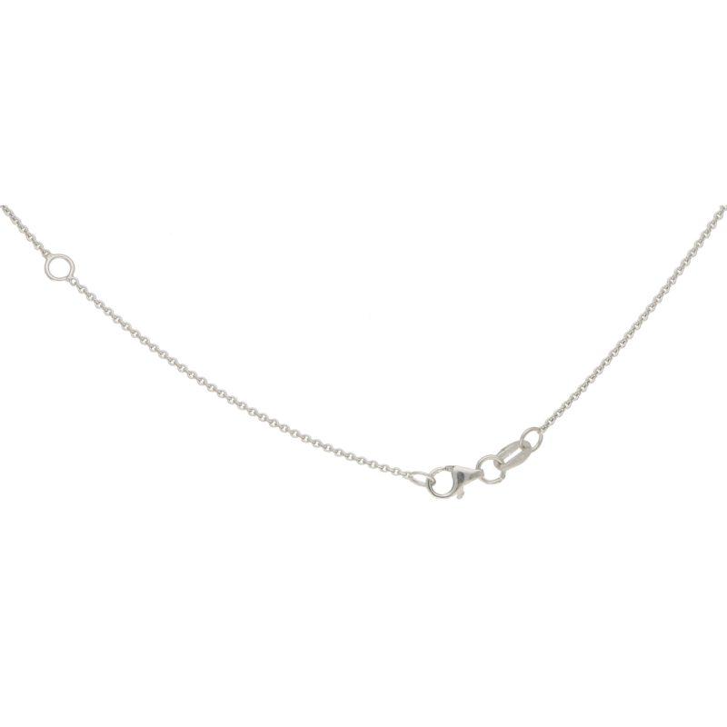 Diamond Snowflake Necklace in White Gold