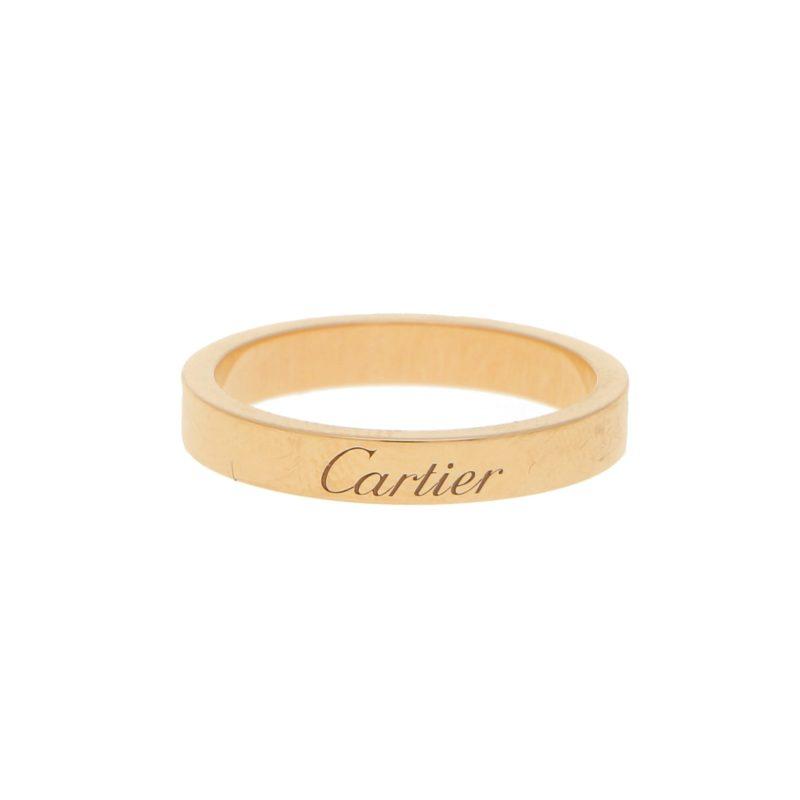 C De Cartier Band Ring Set in 18k Rose Gold