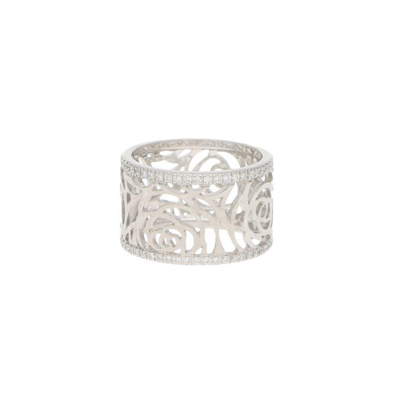 CHANEL Camélia Ajoure Diamond Eternity Band Ring