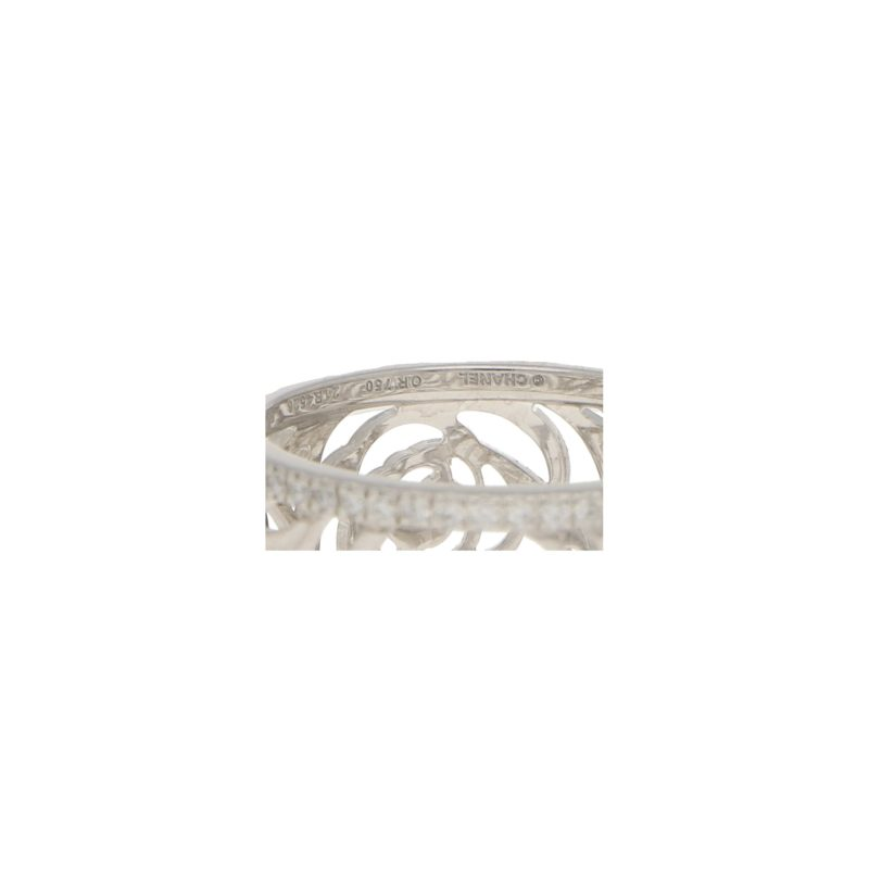 CHANEL Camélia Ajoure Diamond Eternity Band Ring