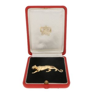 Panthère de Cartier Emerald Eyed Panther Brooch in Yellow Gold