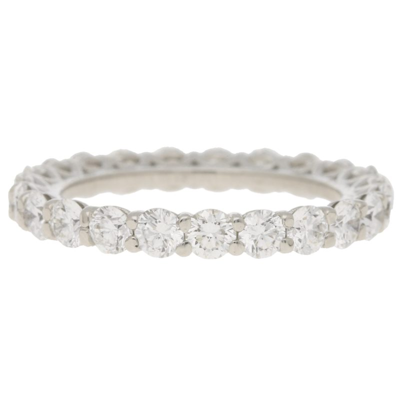 D coloured Full Diamond Eternity Ring in White Gold