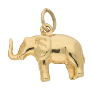 Vintage Elephant Charm in Yellow Gold