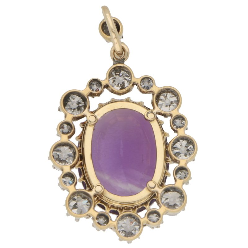 Victorian Amethyst and Diamond Pendant