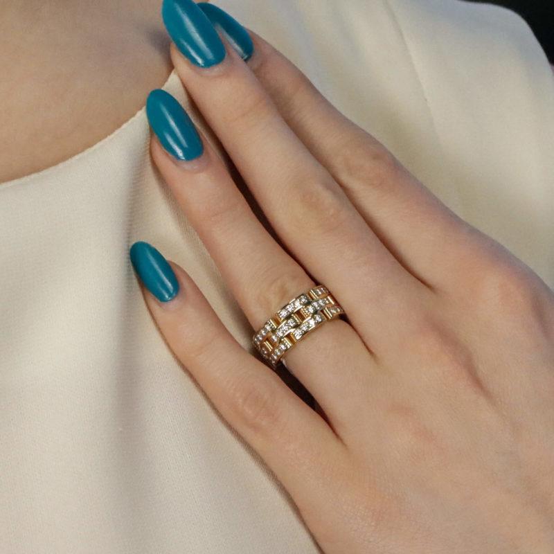 Vintage Cartier Maillon Panthère Diamond Ring