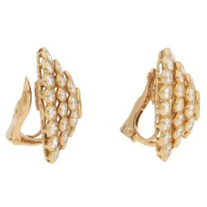 Vintage Cartier Diamond Cluster Earrings