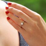 Diamond Single Solitaire Engagement Ring in Platinum