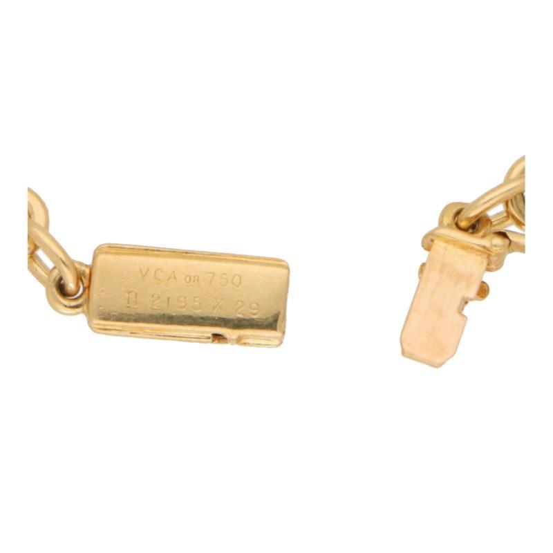 Van Cleef and Arpels Onyx and Diamond Chain Bracelet