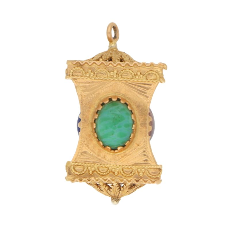 Pink, Green and Blue Chinese Lantern Charm