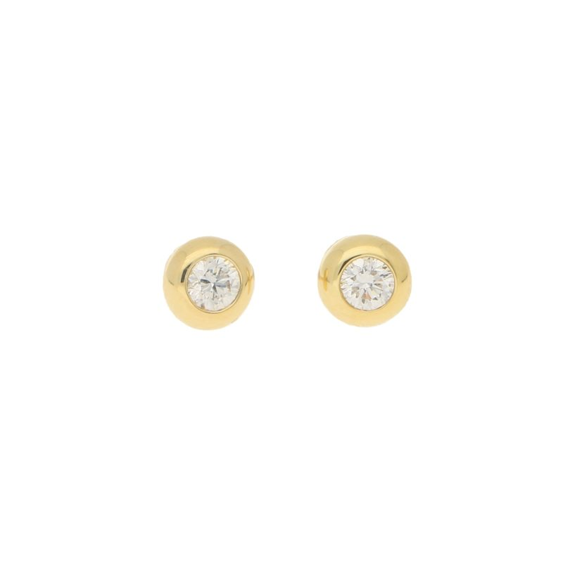 Solitaire diamond earrings 0.30 carats