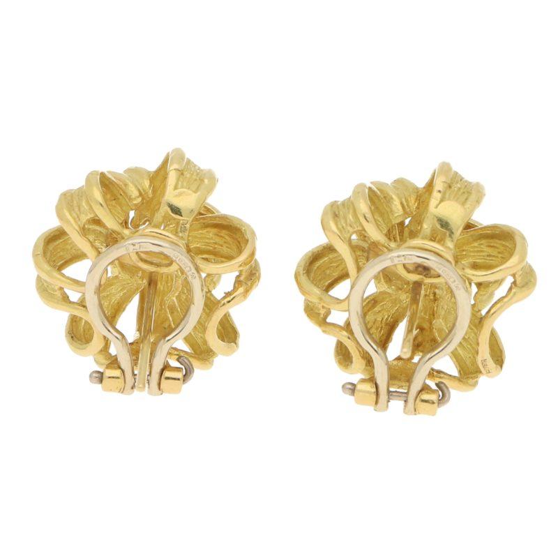 Chunky 1980's Knot Earrings