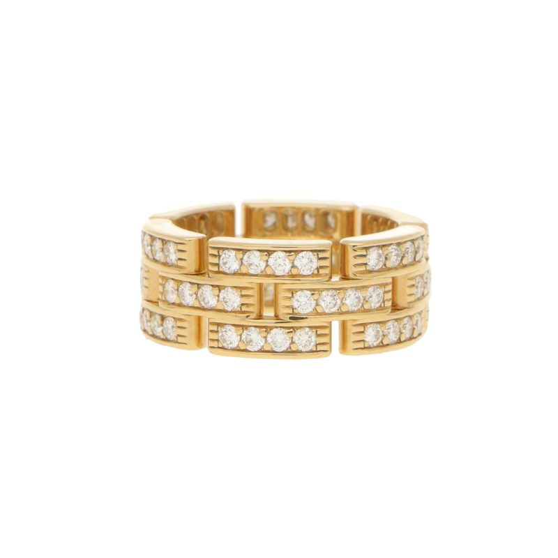 Cartier Maillon Panthere Diamond Ring in 18k Yellow Gold
