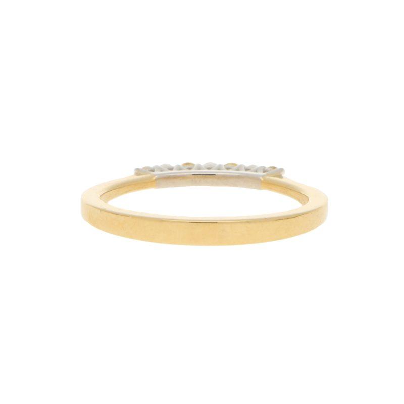 Natural Yellow Diamond Seven Stone Half Eternity Ring