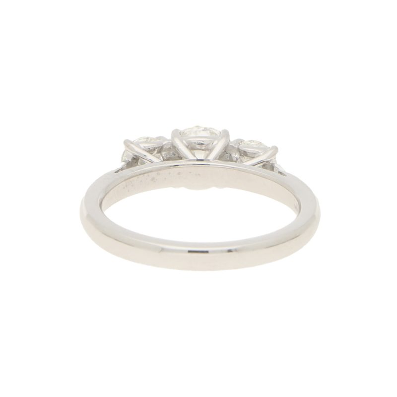 GIA Certified Three Stone Diamond Ring in Platinum