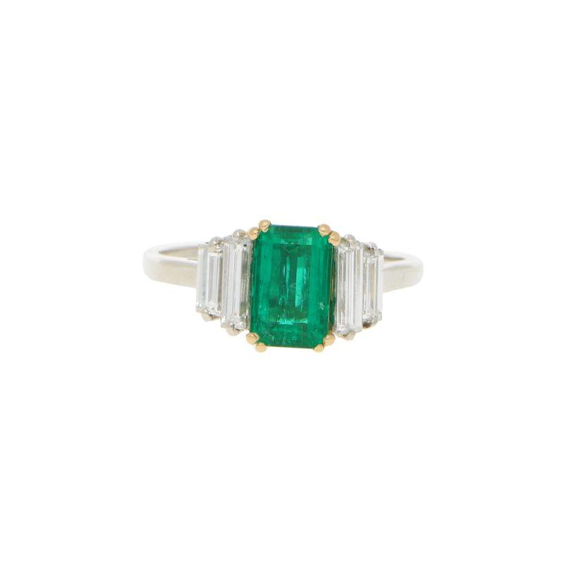 Boucheron Emerald and Diamond Ring