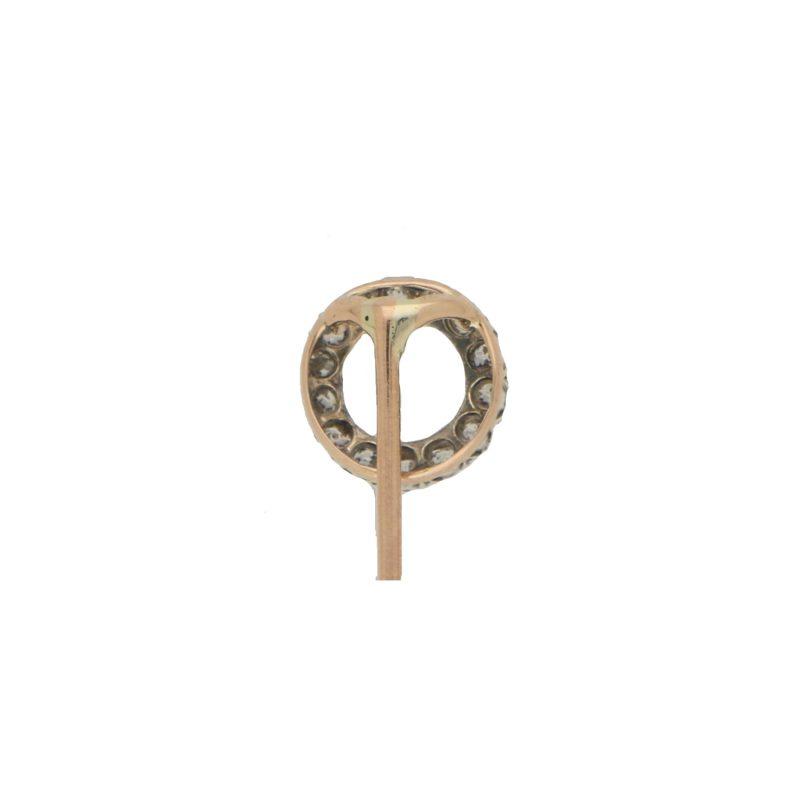 Victorian Diamond Circle Stick Pin