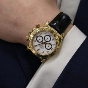 18 carat gold Rolex Daytona Chronograph wrist watch