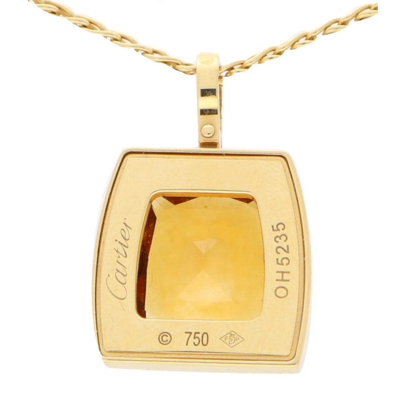 Vintage Cartier La Dona Citrine and Diamond Pendant