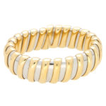 Bvlgari Tubogas Bracelet in Yellow Gold and Steel