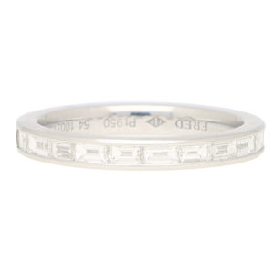 Fred Paris Diamond Half Eternity Ring in Platinum