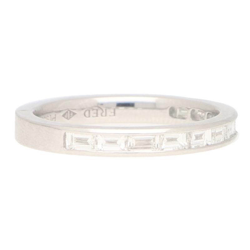 Fred Paris Diamond Half Eternity Ring in Platinum