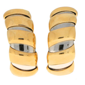Bvlgari Tubogas Hoop Earrings