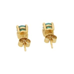 Green Tourmaline Stud Earrings