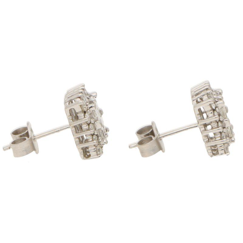 Princess Cut Diamond Stud Earrings in White Gold