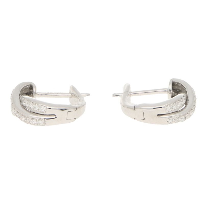 Diamond Trinity Huggy Hoop Earrings