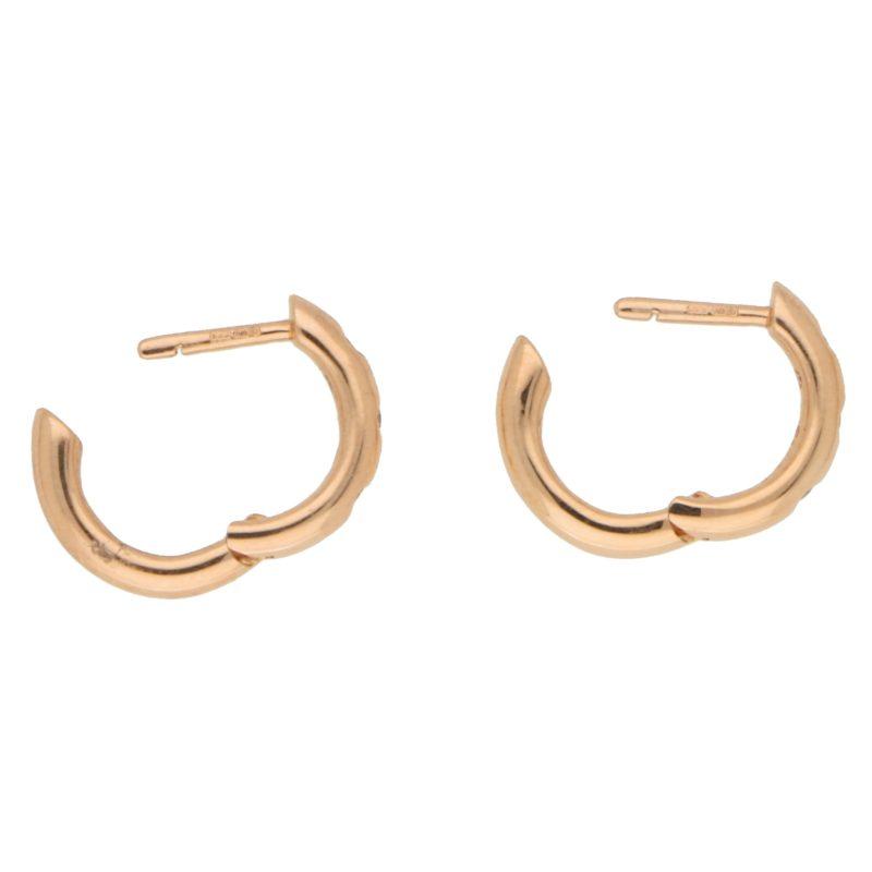 Diamond Hoop Earrings in Rose Gold