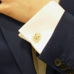 Eagle cufflinks with rock crystal carved heads