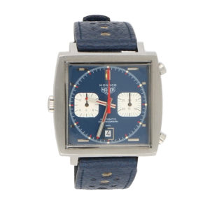 "Vintage Heuer Monaco-""Steve McQueen"" wrist watch"
