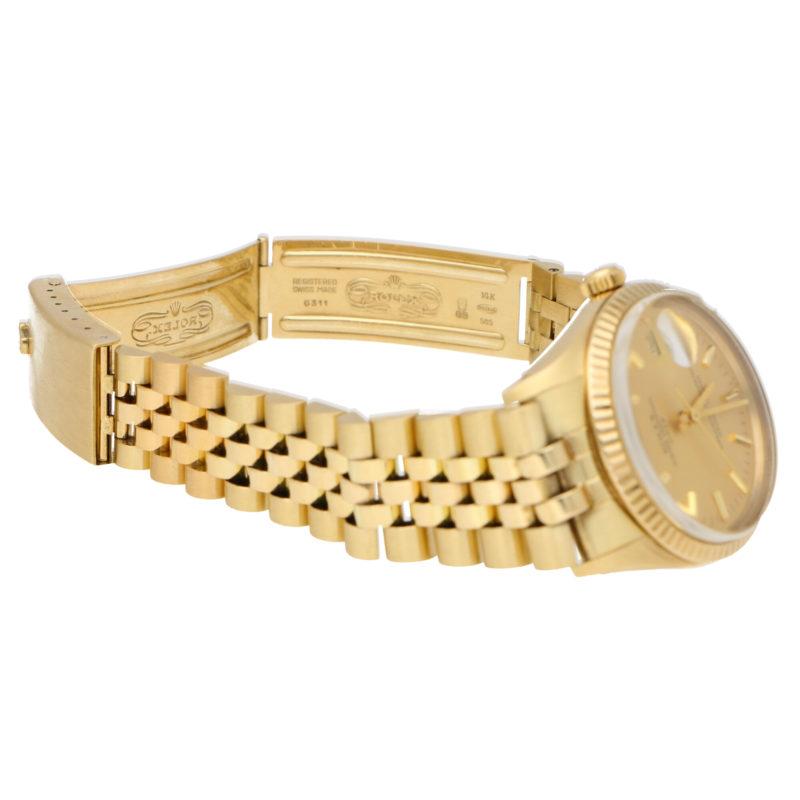 Vintage 14 carat gold Rolex Date wrist watch