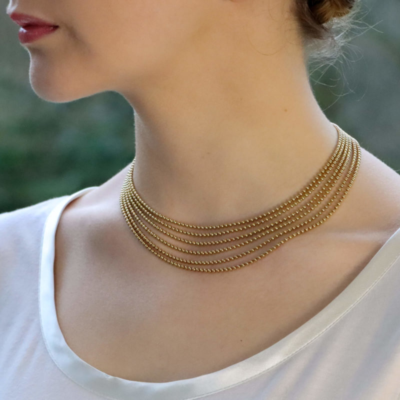 Vintage Cartier Six Strand Draperie Necklace