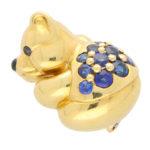 Boucheron Sapphire Teddy Bear Brooch