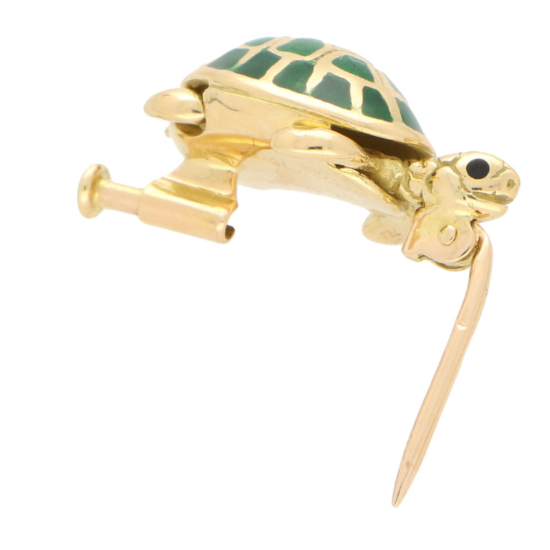 Boucheron Green Enamel Turtle Brooch