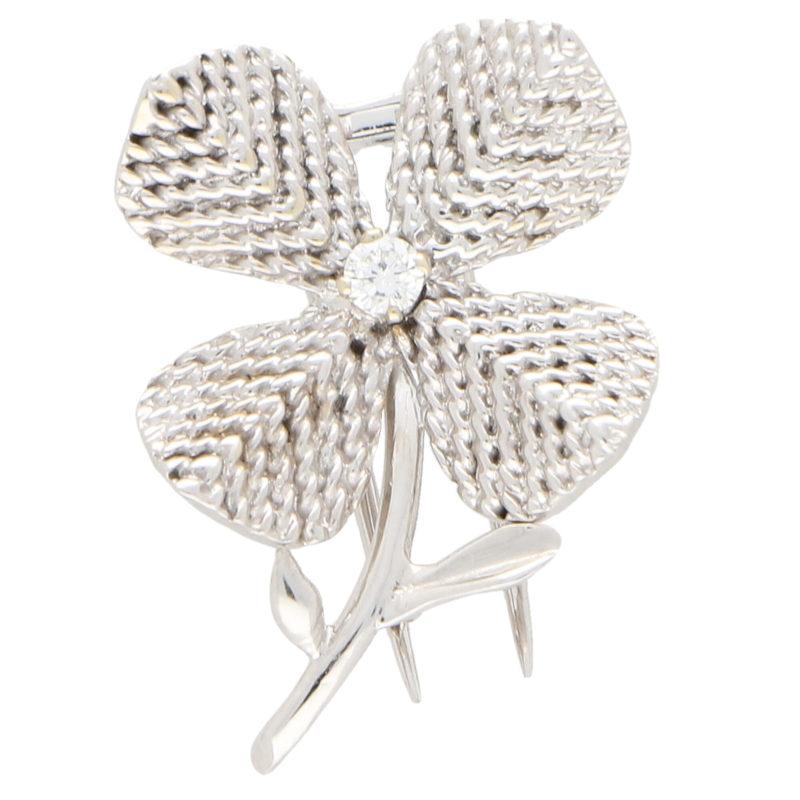 Chaumet Paris Diamond Flower Brooch