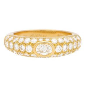 Cartier Oval Diamond Mimi Bombé Ring