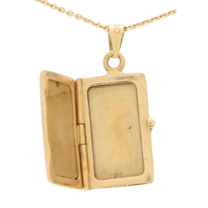 Vintage Gold Locket in 18K Yellow Gold
