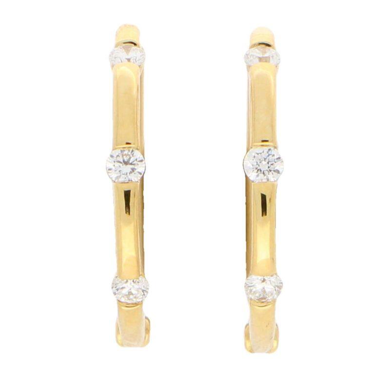 Diamond Hoop Earrings