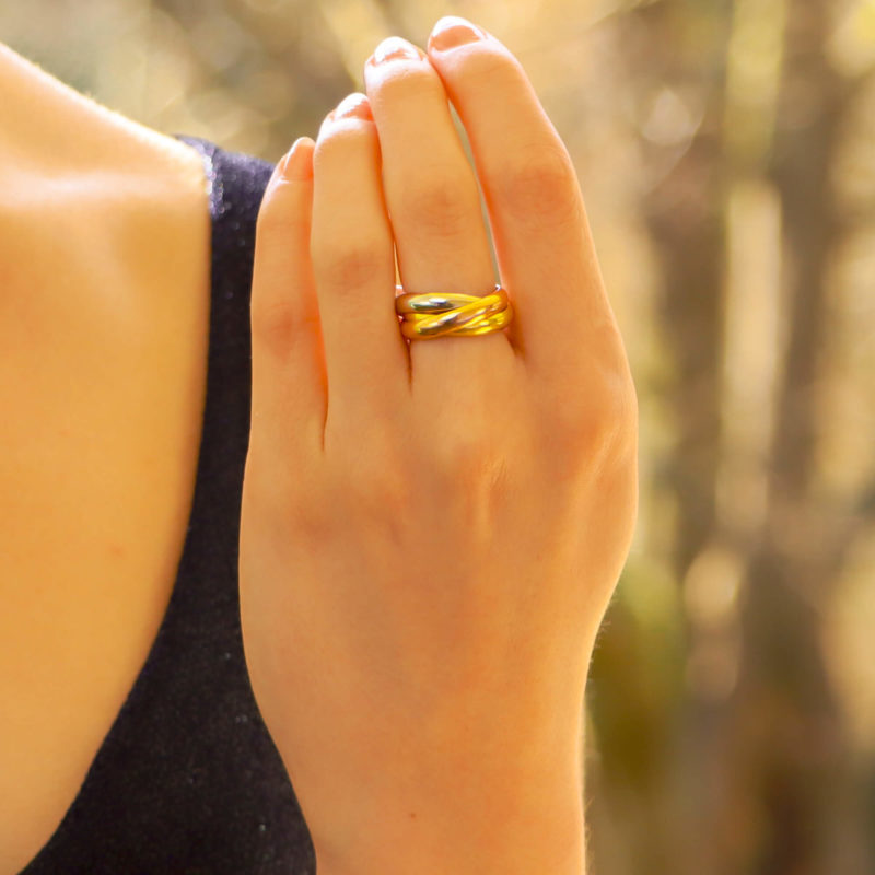 Vintage Cartier Trinity Ring Size 50