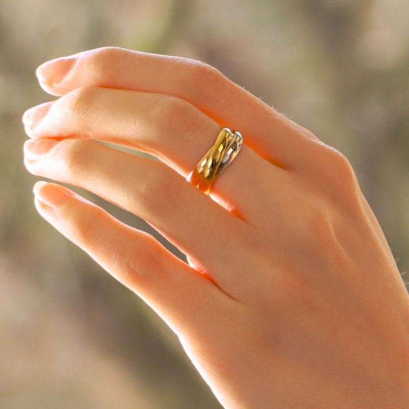 Vintage Les Must De Cartier Trinity Ring Size 54