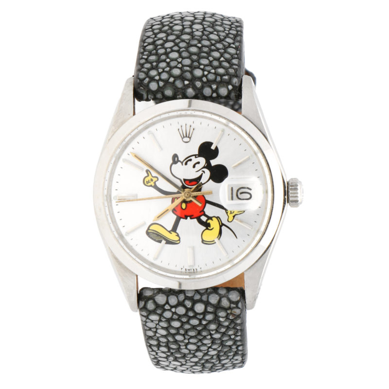 Mickey Mouse Rolex Oyster Date wrist watch