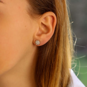 Diamond Floral Cluster Stud Earrings