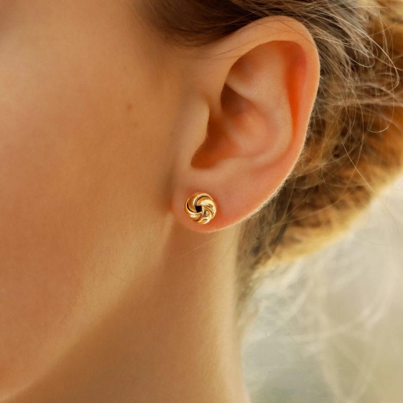 Woven Knot Stud Earrings