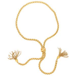 Vintage Chopard Adjustable Tassel Necklace